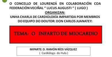 CARTEL CHARLA INFARTO MIOCARDIO LOURENZA 25-02-16