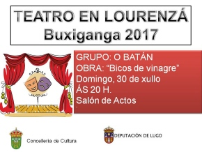 CARTEL TEATRO EN LOURENZÁ 30-07-17