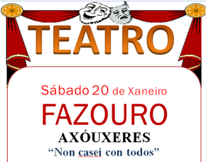 CARTEL TEATRO EN FAZOURO O 20-01-18