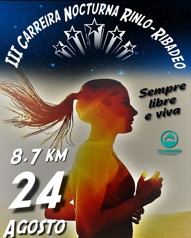 CARTEL CARREIRA NOCTURNA RINLO-RIBADEO 2019