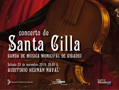 Cartel Concerto Santa Cilla Banda de Ribadeo (23-11-19)