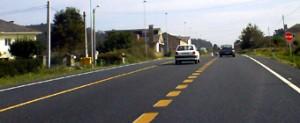 Un tramo de 3,5 quilómetros da N642 en Cervo leva meses con sinalización de obras