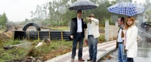 O alcalde de Cervo visitou as obras da N-642 entre Figueirido e Río Cobo