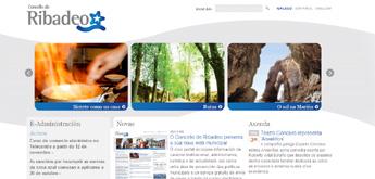 Ribadeo conta con unha nova paxina web do concello