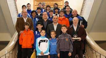 Recepción aos integrantes lucenses da selección galega de fútbol sala na Deputación