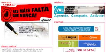 A Mesa pola Normalización Lingüística anima en Burela a manifestarse en defensa do galego