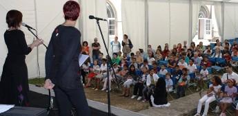 Recepción de nenos saharauís na Deputación de Lugo