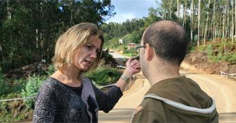 En obras 2,8 quilómetros da estrada Burela Vilaestrofe na que a Deputación que inviste 400 mil euros