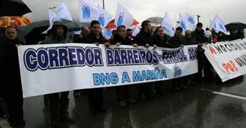 Mais dun cento de persoas demandaron na Espiñeira a axilización das obras do corredor Barreiros Ferrol, asegura o BNG