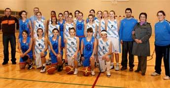 Un combinado de xogadoras de baloncesto da Mariña enfrontouse á selección galega infantil feminina