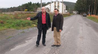 O PP acusa á deputación de poñer en perigo a seguridade vial por defectos de obra nunha estrada de Xove