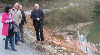 Detecta o PP en Lourenzá ausencia de biondas de protección nunha estrada provincial
