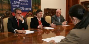 Deputación e Xunta avanzan na colaboración do parque da capital co Consocio Provincial de Bombeiros