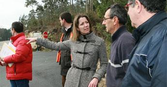 A Deputación inviste 6,1 millóns de euros en acondicionar 10 estradas de 11 concellos de A Mariña