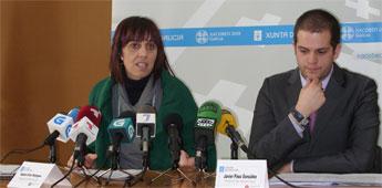 A responsable da área de Turismo da Deputación vista o Mondoñedo luns