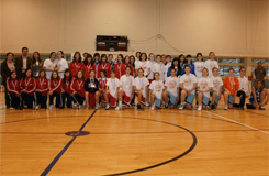 Equipos da fase final do campionato provincial de baloncesto infantil feminina celebrado no pavillón de Cervo