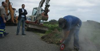 Deron comezo as obras de saneamento no lugar de Madeiro, en Cervo