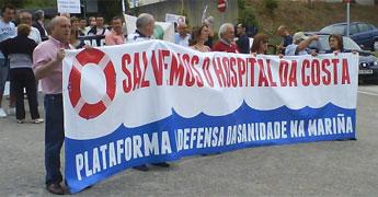 A Plataforma na Defensa da Sanidade Pública da Mariña irá a manifestaración do 21 de novembro a Santiago