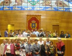 Mulleres de San Ciprián visitaron o Parlamento de Galicia