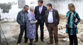 A Deputación comezou a investir 1,2 millóns de euros no arranxo dos danos causados polo temporal