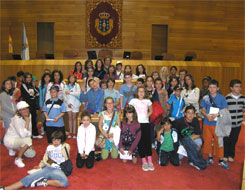 Estudantes do colexio de San Cibrao visitaron o Parlamento de Galicia
