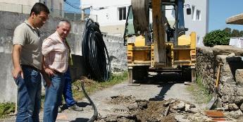 Comezaron as obras de mellora do abastecemento de auga ao núcleo de Lieiro