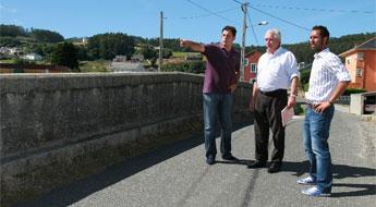 Deputación, concello de Foz e FEVE investirán 110 mil euros para amplíar a Ponte Cabana en Nois