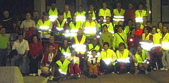 Máis de 50 camiñantes de Pasada das Cabras fixeron unha ruta nocturna de Burela a San Cibrao