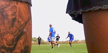 Cinco peñas barcelonistas participaron no torneo de fútbol 7 que organizou e gañou a peña de San Miguel en Barreiros