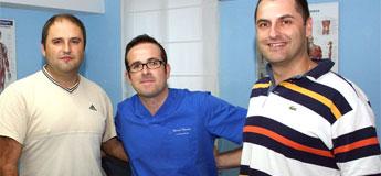 David Mariña afronta a súa sétima tempada como fisioterapeuta do Burela FS