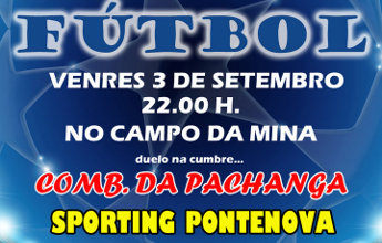 O Sporting Pontenova enfrentase a un combinado da Pachanga no campo da Mina
