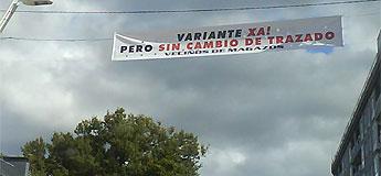 Veciños de Valcarría apoian os afectados en Magazos polos cambios na estrada San Cibrao-O Barqueiro