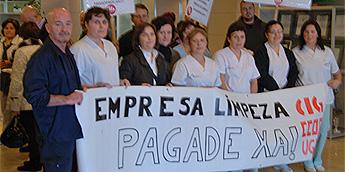 Persoal da limpeza no Hospital da Costa de Burela reclama o pagamento do grado da carreira profesional