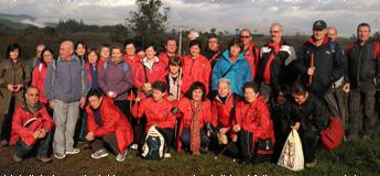 A asociación Pasada das Cabras de Burela fixo a penúltima etapa do camiño a Fisterra