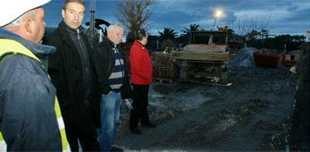 Segundo o goberno de Cervo as obras do saneamento de San Ciprián intensifícanse nestas datas