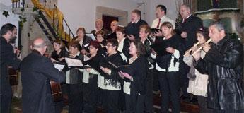 A igrexa parroquial de Santiago de Sargadelos encheuse de música en honra a Santa Cilla