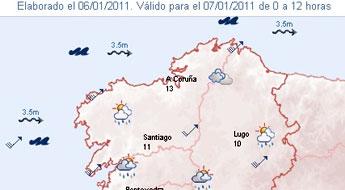 Alerta por un fenómeno adverso de choiva e vento que afectará ao litoral galego a partires do venres