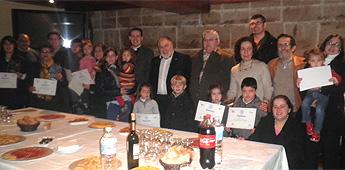 ACISA e a asociación de Belenistas entregaron en Ribadeo os premios do I Concurso de Belenes