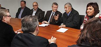 O conselleiro de Presidencia, Administracións Públicas e Xustiza visitou O Valadouro e Ourol