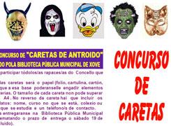 A biblioteca municipal de Xove organiza un concurso de caretas de antroido