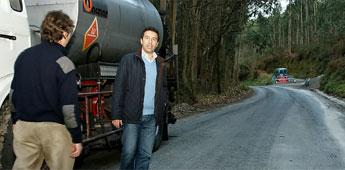 A Deputación iniciou os traballos de asfaltado da estrada entre O Paraño e Figueirido en Cervo