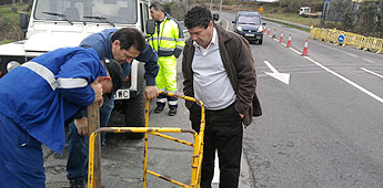 Comezaron as obras de arranxo da ponte do Perdouro en Burela que realiza a Deputación