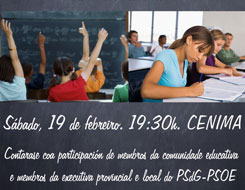 O PSOE de Foz organiza unha mesa redonda sobre o anteproxecto de Lei de Convivencia e Participación da Comunidade Educativa