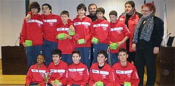 Recepción no Concello de Burela á selección infantil de fútbol sala da Mariña, subcampiona galega