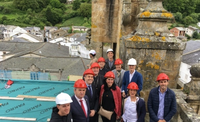 Cultura inviste preto dun millón de euros na rehabilitación da Catedral de Mondoñedo