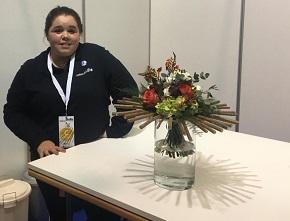 A alumna do Ies San Rosendo de Mondoñedo Cristina Ares Rivas participa nas Galicia Skills