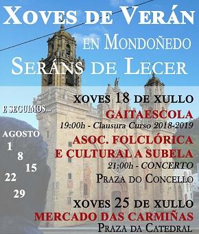 Continúan os xoves de verán en Mondoñedo