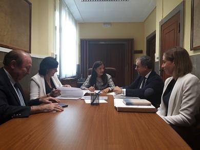 A subdelegada do Goberno aplaude a iniciativa de Fomento de ceder dous treitos da antiga N-634 a Mondoñedo