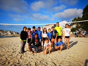 Entrega de medallas das Noites Alternativas de Volei Praia, organizadas pola delegación de Deportes do Concello de Cervo, que dirixe Davíd Rodríguez