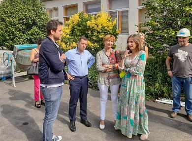 O Alcalde de Foz Fran Cajoto e a Conselleira de Educación visitaron as obras de reforma do CEIP N°1